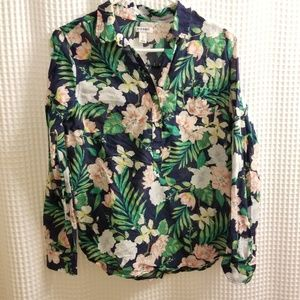 Old Navy womans tropical print blouse.